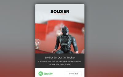 "Pre-Save Dustin Tucker's New Single, ""Soldier"""